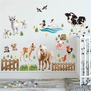 Wandtattoo Tiere Kinderzimmer : wandtattoo kinderzimmer animal club international ~ Watch28wear.com Haus und Dekorationen