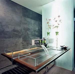 Grande Vasque Salle De Bain : salle de bain moderne tendance inspir e par le design minimaliste et cr atif design feria ~ Teatrodelosmanantiales.com Idées de Décoration