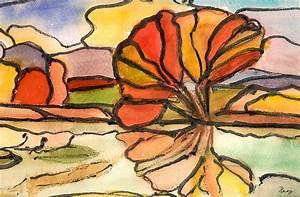 Baum Am Wasser : baum am wasser aquarell josephine sonnenschein ~ A.2002-acura-tl-radio.info Haus und Dekorationen
