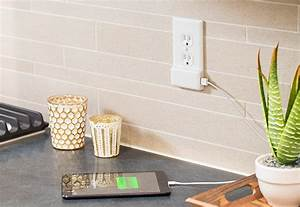 Snappower  An Easy Install Outlet Plate With Usb Charging Port