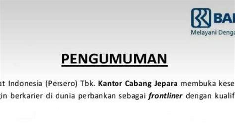 Info loker bank bri terbaru september 2020. Loker Driver Bank Bri Surabaya : Lowongan Kerja Bank Di Surabaya Lulusan Sma - Info Seputar ...