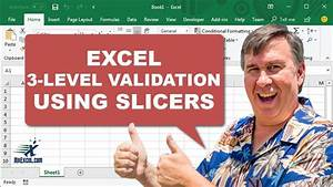 learn excel 3 level validation using slicers podcast
