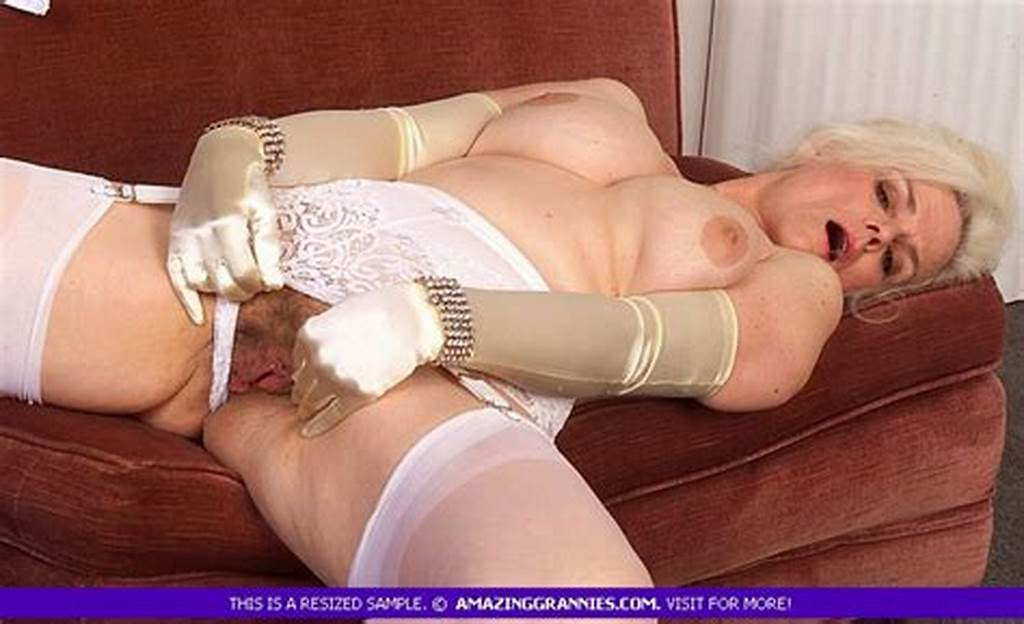 #Old #Busty #Blonde #Granny #Enjoys #Shaking #Her #Big #Boobies #And