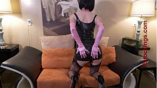 Pigtailed Porn In A Tight Costume And Shiny Gloves