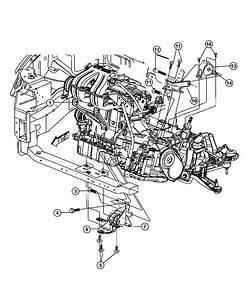 2011 Dodge Caliber Support  Engine Mount  Transmission To