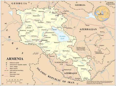 Ģeogrāfiskā karte - Armēnija - 3,038 x 2,257 Pikselis - 1 ...