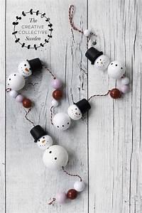 Basteln Mit Kindern Weihnachten Und Winter : basteln mit kindern deko f r weihnachten und winter mit schneemann aus watterkugeln christmas ~ Watch28wear.com Haus und Dekorationen