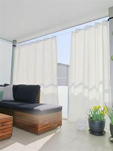 Vorhang Für Balkon : outdoor vorhang santorini nach mass weiss ~ Watch28wear.com Haus und Dekorationen