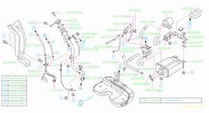 1998 Subaru Impreza Valve Pressure Control  Piping  Fuel