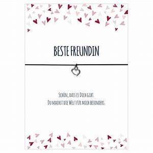 Geschenke Für Die Beste Freundin : armband beste freundin schwarz herz fiedlers deko und garten ~ A.2002-acura-tl-radio.info Haus und Dekorationen
