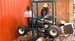 How To Turn And Old Gas Golf Cart Into A Sawmill For Timber