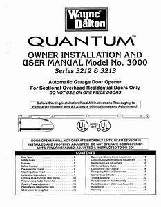 Wayne Dalton Model 3016 Garage Door Opener Troubleshooting