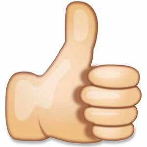 Download Thumbs Up Hand Sign Emoji | Emoji Island