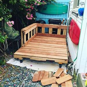 best, 20, , recycled, pallet, bed, frame, and, storage, ideas