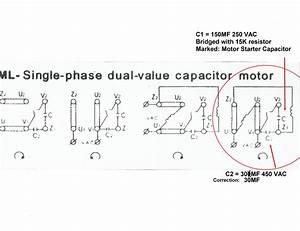 1ph Run Pacitor Wiring Diagram