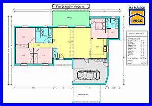 photo maison contemporaine plain pied maison moderne With plan de maison contemporaine 4 chambres