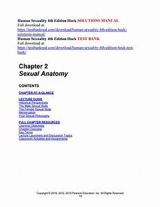 Human Sexuality 4th Edition Hock Solutions Manual By