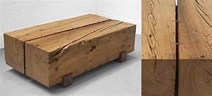 Table Bois Massif Brut : mobilier en bois massif le coin du bois le blog de la d coration en bois massif et brut ~ Teatrodelosmanantiales.com Idées de Décoration