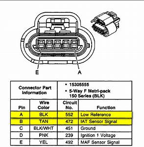 Which Wires Are The Iat Sensor On A 2002 Silverado Z71