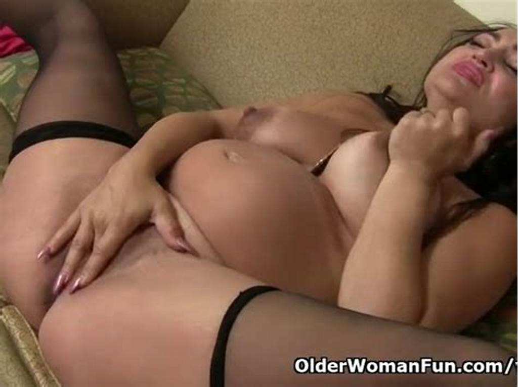 #Pregnant #Milf #Jocelyn #Rubs #Her #Hungry #Pussy