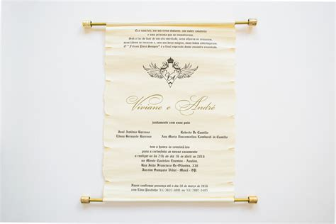 Convites de casamento Pergaminho Papel e Estilo