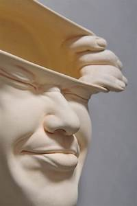 whimsical, porcelain, sculptures, of, stretched, and, distorted