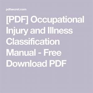 Pdf  Occupational Injury And Illness Classification