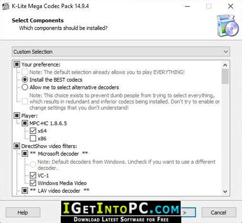 This means that a lot of things are reset to the defaults of windows. K-Lite Mega Codec Pack 14.9.6 Free Download
