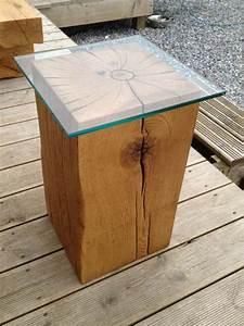 Oak, Block, Side, Tables