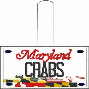 Maryland License Plate Designs Maryland Plate Embroidery Snap Tab Designs By Babymoon