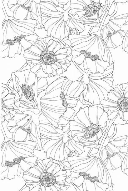 Coloring Pages Teens Printable Flowers Adult Colouring