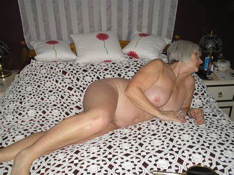 Pinky Sweet Topless Grey Haired Mature