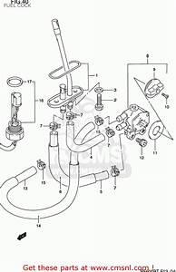 Suzuki Rf600r 1995  S  Usa  E03  Fuel Cock