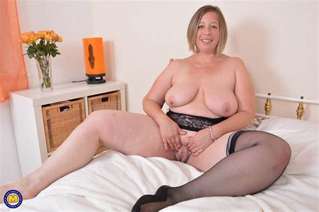 #British #Curvaceous #Housewife #Toying #With #Herself #British