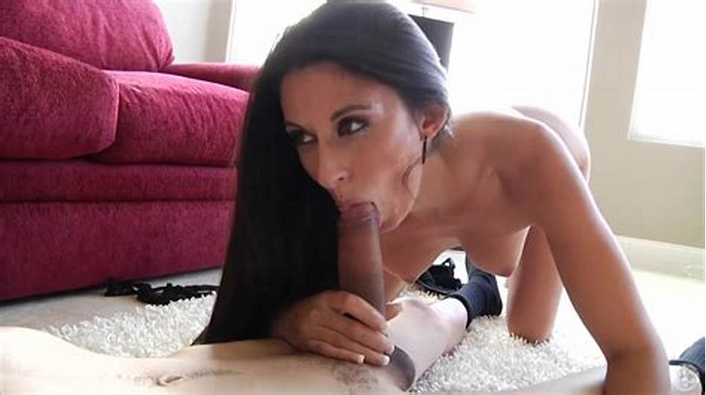 #Sexy #Milf #With #Long #Black #Hair #Gives #Interracial #Blowjob