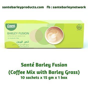 Fusion pack(sante barley fusion coffee 4 box). SANTÉ BARLEY PRODUCTS - Home