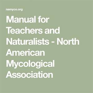Manual For Teachers And Naturalists