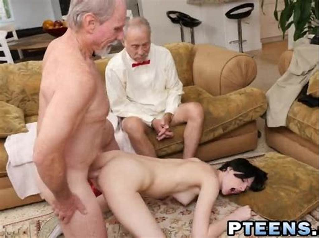 #Brunette #Teen #Doggy #Style #Anal #Fucking #Old #Man