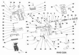 Rws  Diana Model C225 Air Pistol Schematic