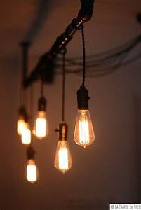 Industrial Luminaire With Son Pendant And Bulb Edison