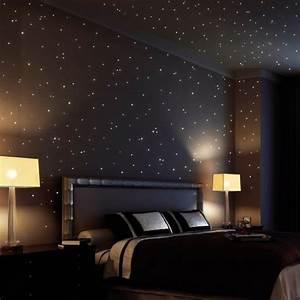 Leuchtsterne Für Kinderzimmer : wandtattoo loft sternenhimmel 350 fluoreszierende leuchtpunkte und leuchtsterne selbstklebend ~ Watch28wear.com Haus und Dekorationen