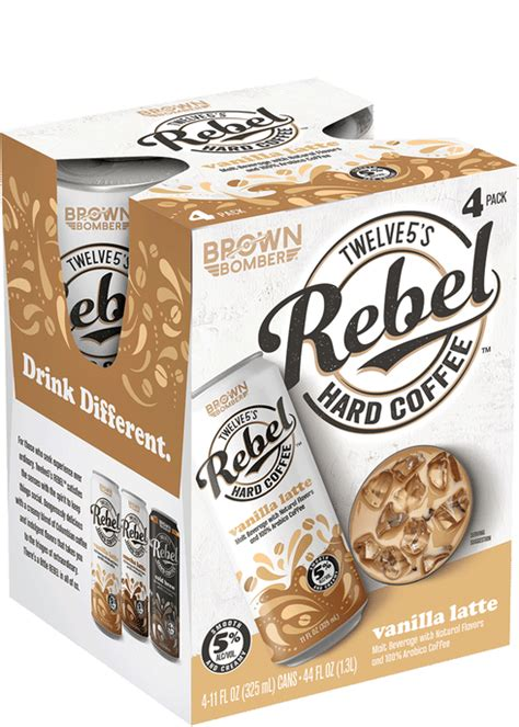 High performance coffee for active lifestyles. Rebel Hard Coffee Vanilla Latte | Total Wine & More