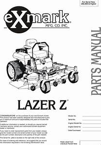 Exmark Lazer Z Parts Diagram
