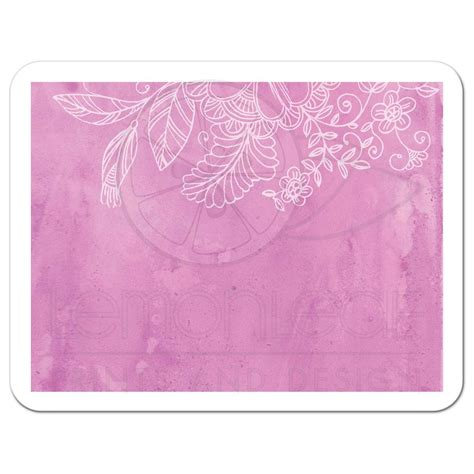 Wedding RSVP Card Outlined Floral Pink Watercolor