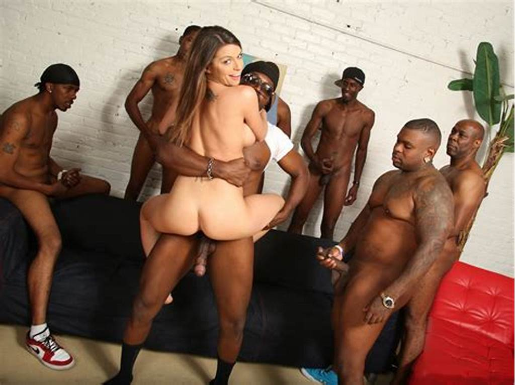 #Brooklyn #Chase'S #First #Interracial #Gangbang