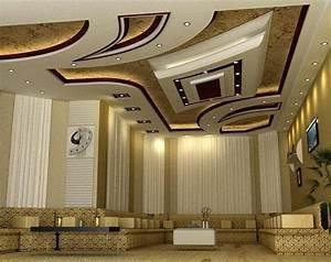 10 modern pop false ceiling designs for living room for Modern false ceiling designs for living room