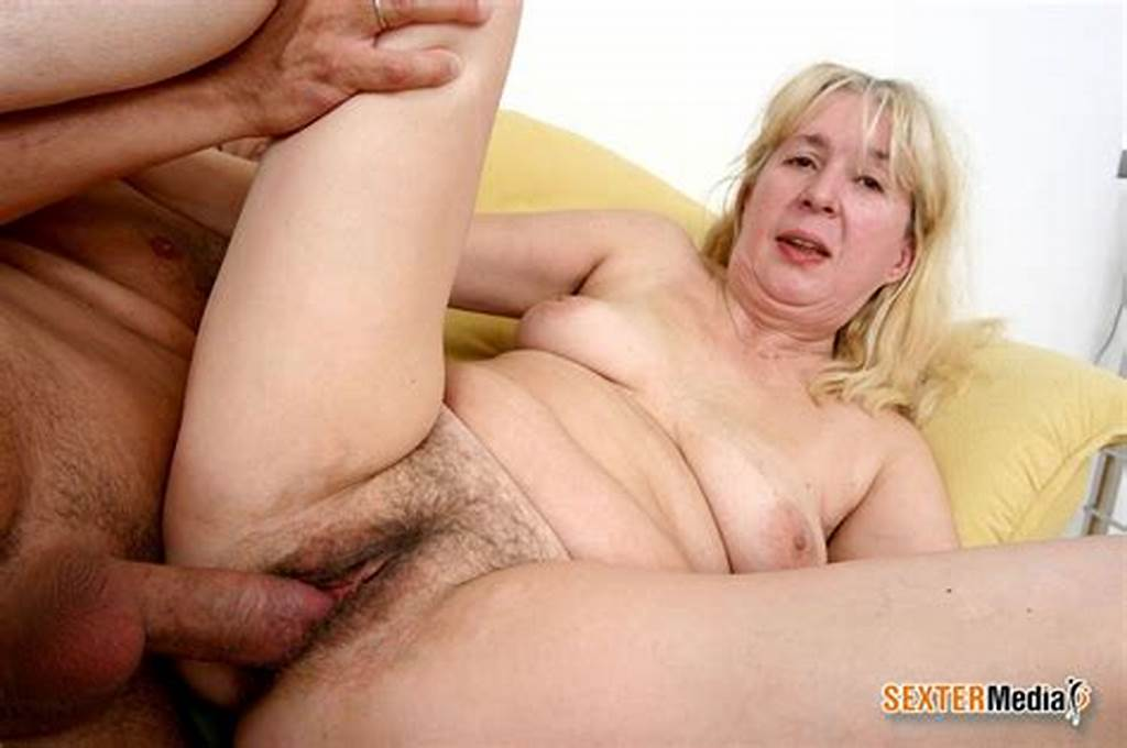 #Hairy #Pussy #Blonde #Granny #Enjoying #Younger