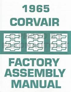 1965 Chevrolet Corvair Car Repair Shop Manual Reprint