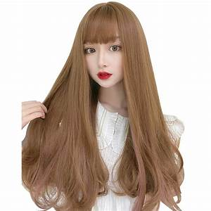 Feshfen Dz83 Honey Brown    Pink Mixed Color Long Straight