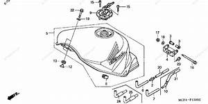 Honda Motorcycle 2002 Oem Parts Diagram For Fuel Tank